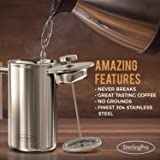 SterlingPro French Press Coffee Maker (1L)-Double