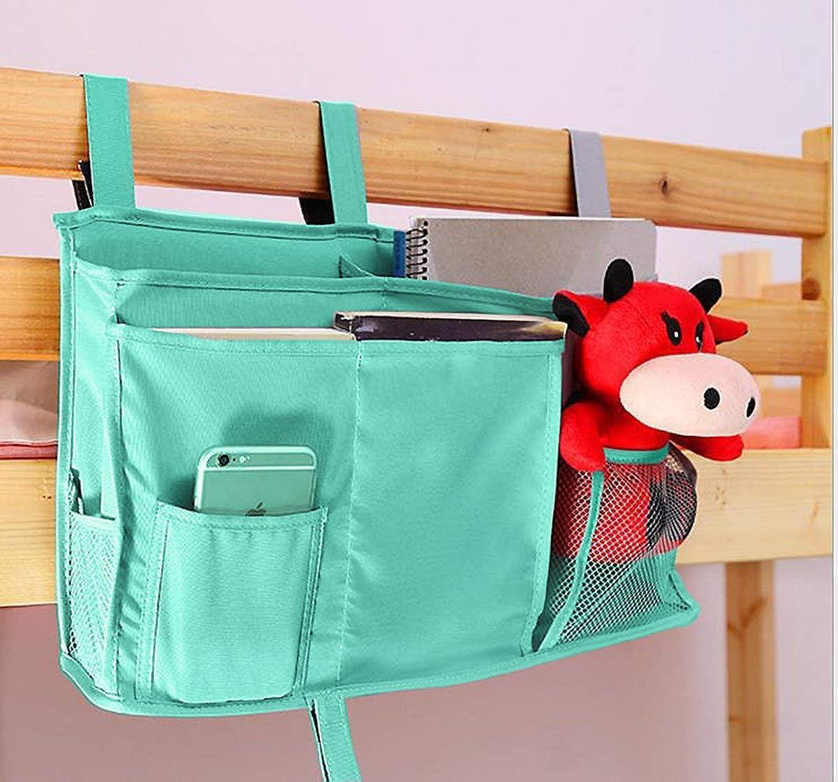 Blue Hospital Bed Rails Baby Bed Camp Bunk Bed Organizer Bed Storage Pocket Bedside Organizer Hanging Bed Storage Caddy for College Dorm Room Sugaroom Bedside Storage Caddy