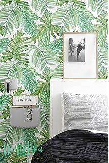 Tapete Palmen honolulu glitzer palme blätter designer tapete in grün grün