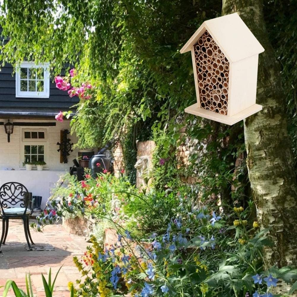 Rodipu Quality natural wooden honeycomb for insect bees durable wooden bee house