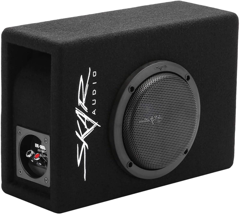 Includes Loaded Enclosure and Amplifier Skar Audio Single 6.5 Complete 400 Watt EVL Series Subwoofer Bass Package