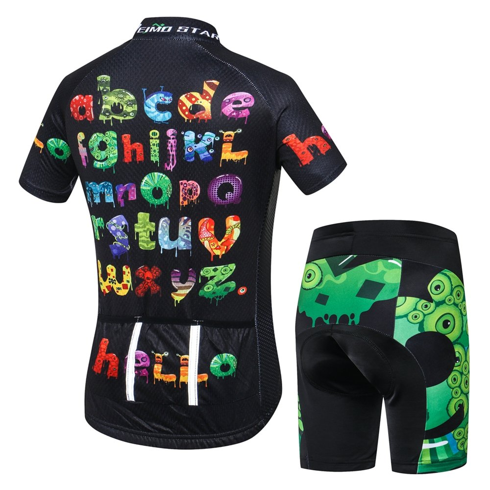 Weimostar Kids Cycling Jersey Short Set Girls Boys Children Bike Gel Padded  Bicycle  Amazon.ca  Clothing   Accessories 2b4ea20b6