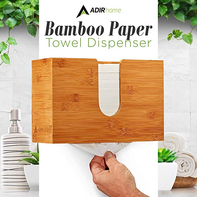 Amazon.com: AdirHome Bamboo Paper Towel Dispenser 4.8