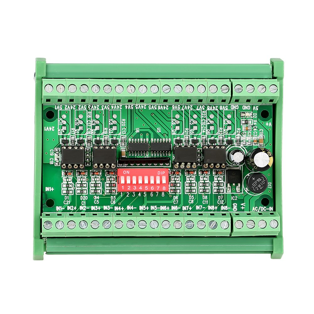5V/24V 8canal 10niveles MHz convertidor módulo conversor de señal, PnP NPN, convertidor de voltaje de ruido de tabla