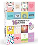 16 x Thank You Cards by Joy Masters™ Vol.1 | Multipack for Kids & Adults | Large Set for Men & Woman