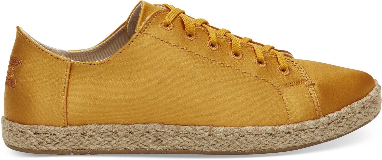 TOMS Women's Lena Polyester Sneaker, Size: 7 B(M) US, Color: Sunflower Satin