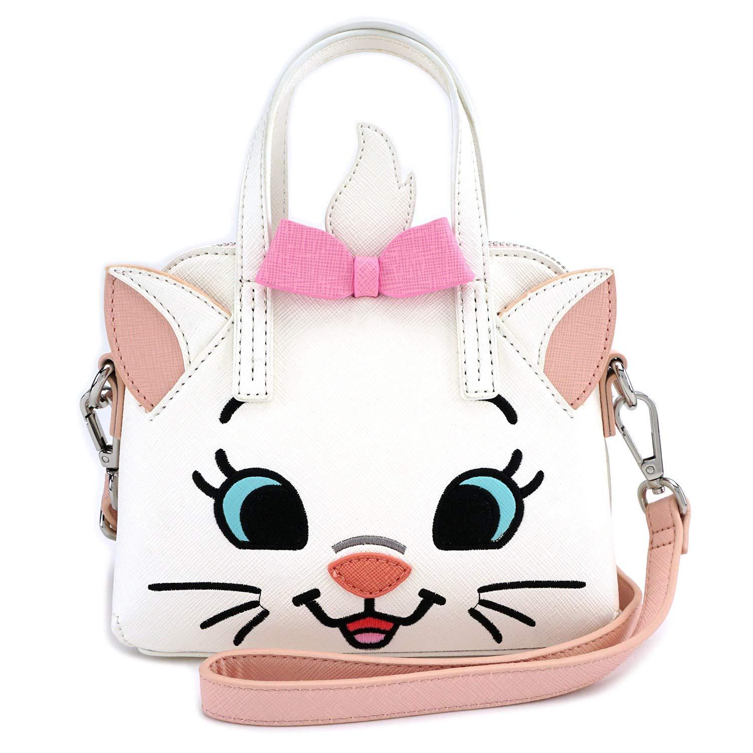 4c4e0af8462 Amazon.com  Loungefly x The Aristocats Marie Face Micro Purse (One Size