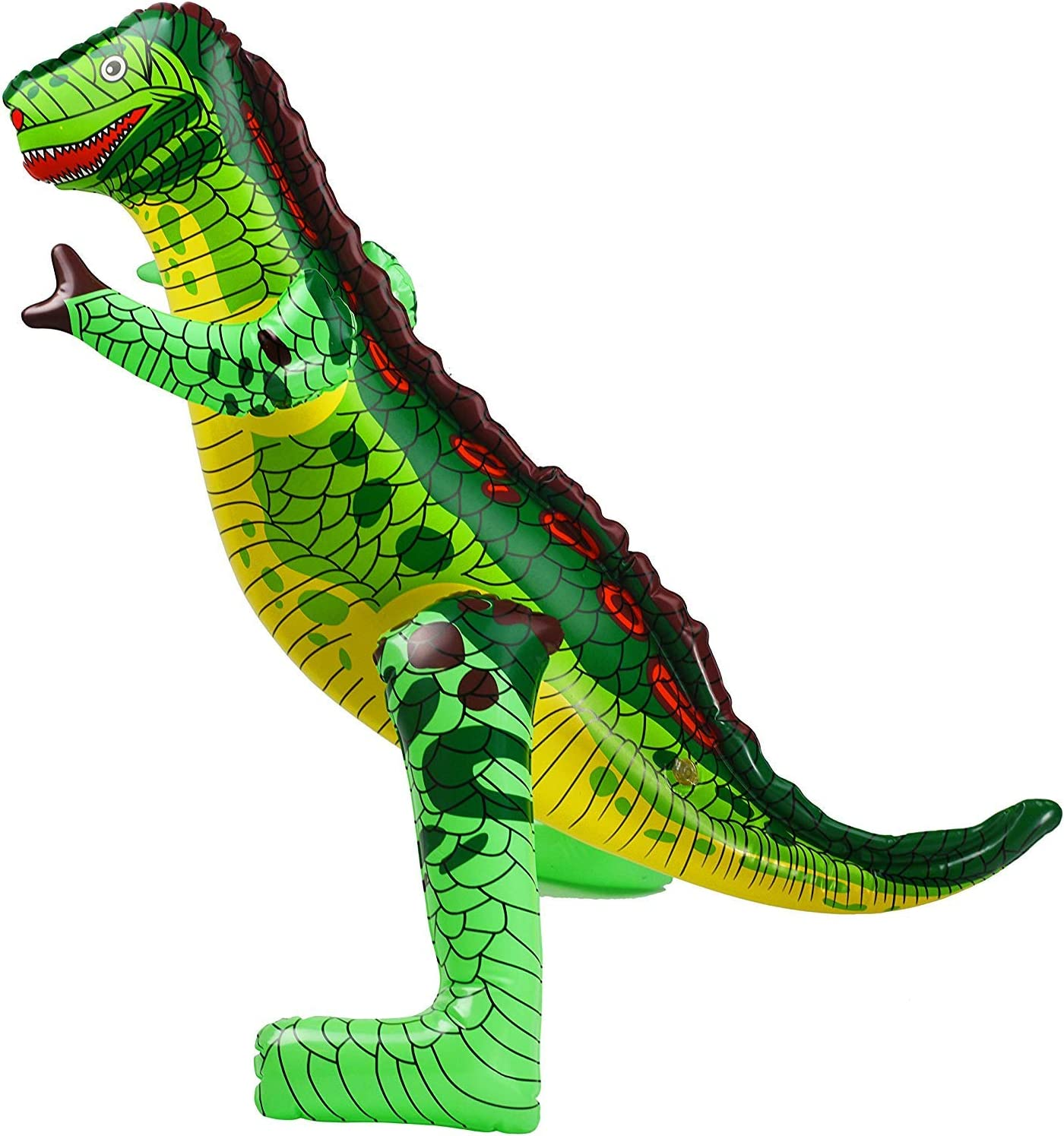 """24/"""" T-Rex /& Raptor Dinosaur Inflatable Blow Up Toy Party Decoration Set Of 2"""