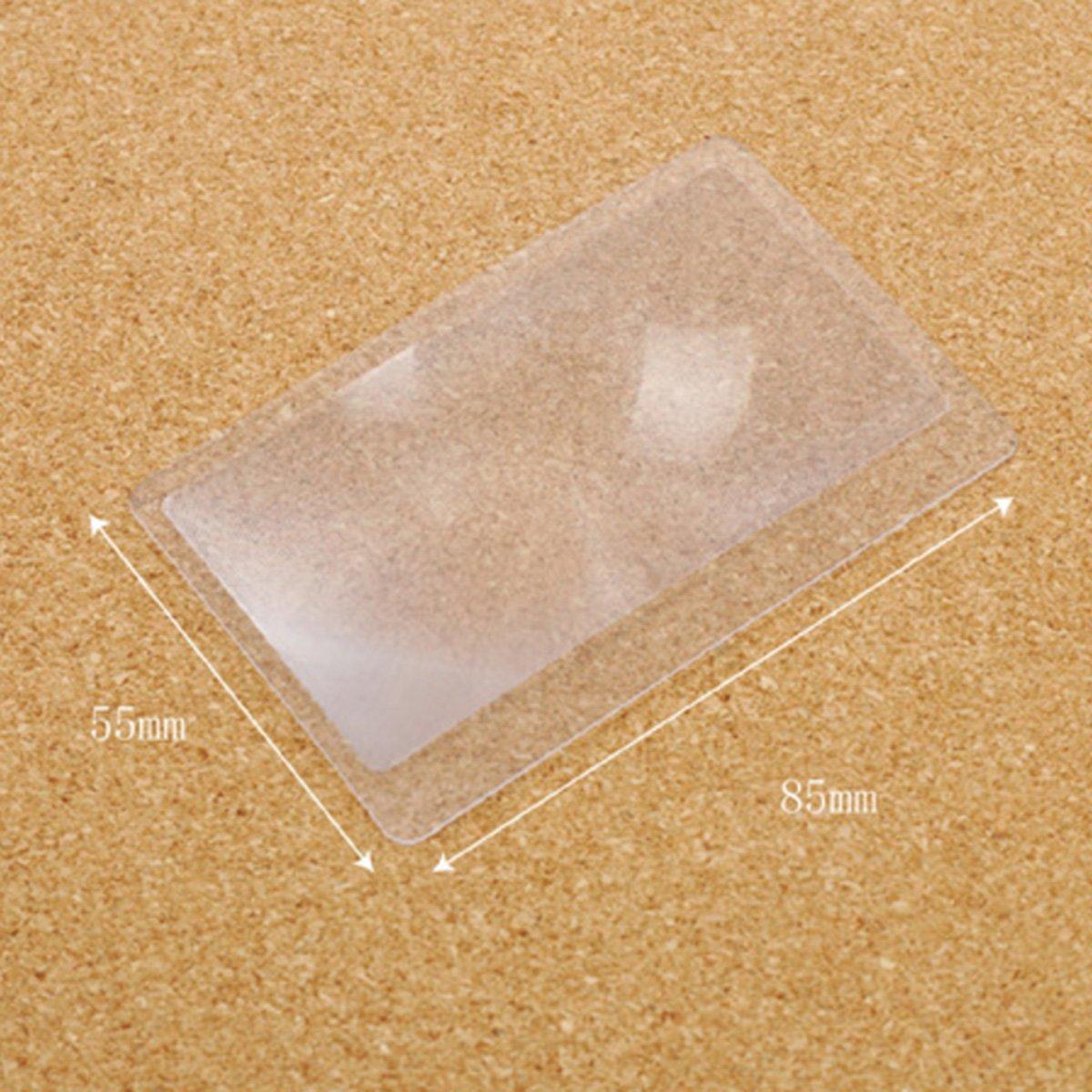 20/pz formato carta di credito lenti d ingrandimento per accendi fuoco o da lettura 55/x 85/mm 300/% Fresnel lente d ingrandimento 8,5/x 5,5/cm
