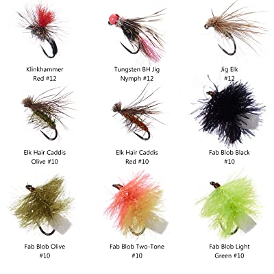 Fab blobs wet trout flies size 12