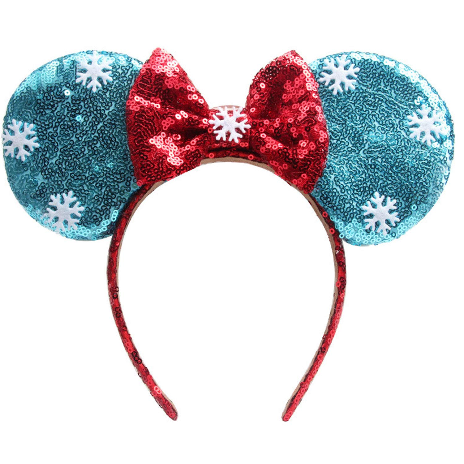 K T One Minnie Mickey Mouse Ears Headbands/& Bows Black Bow + Spiderweb Mermaid Girls Women Headband for Cosplay Costume Princess Party Birthday Decorations