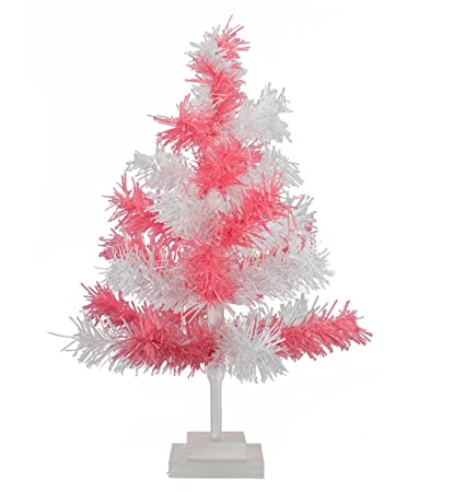 lee display 18 pink white christmas tinsel tree easter tree retro style soft - Amazon White Christmas Tree
