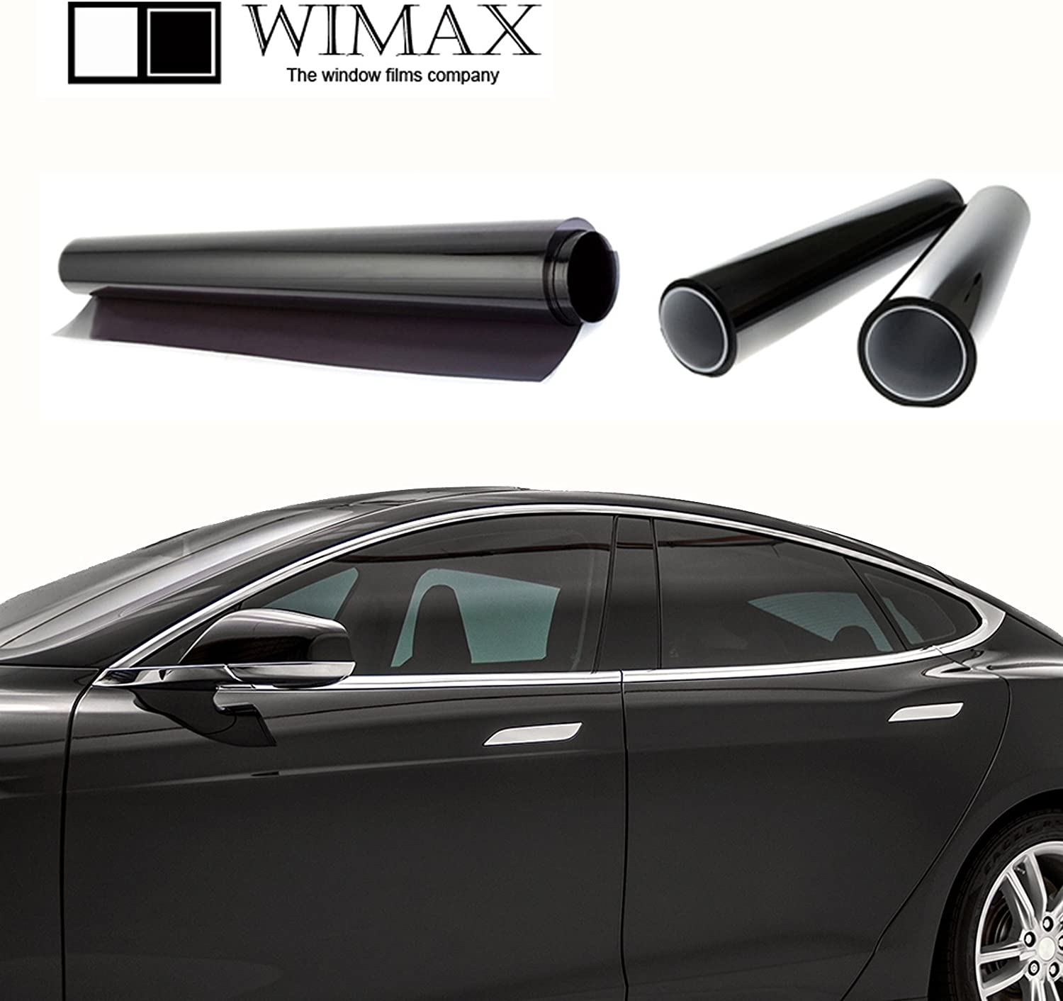 Wimax Limo 3/% VLT 36 in x 50 Ft Feet Uncut Roll Window Tint Film Auto Car Home Office