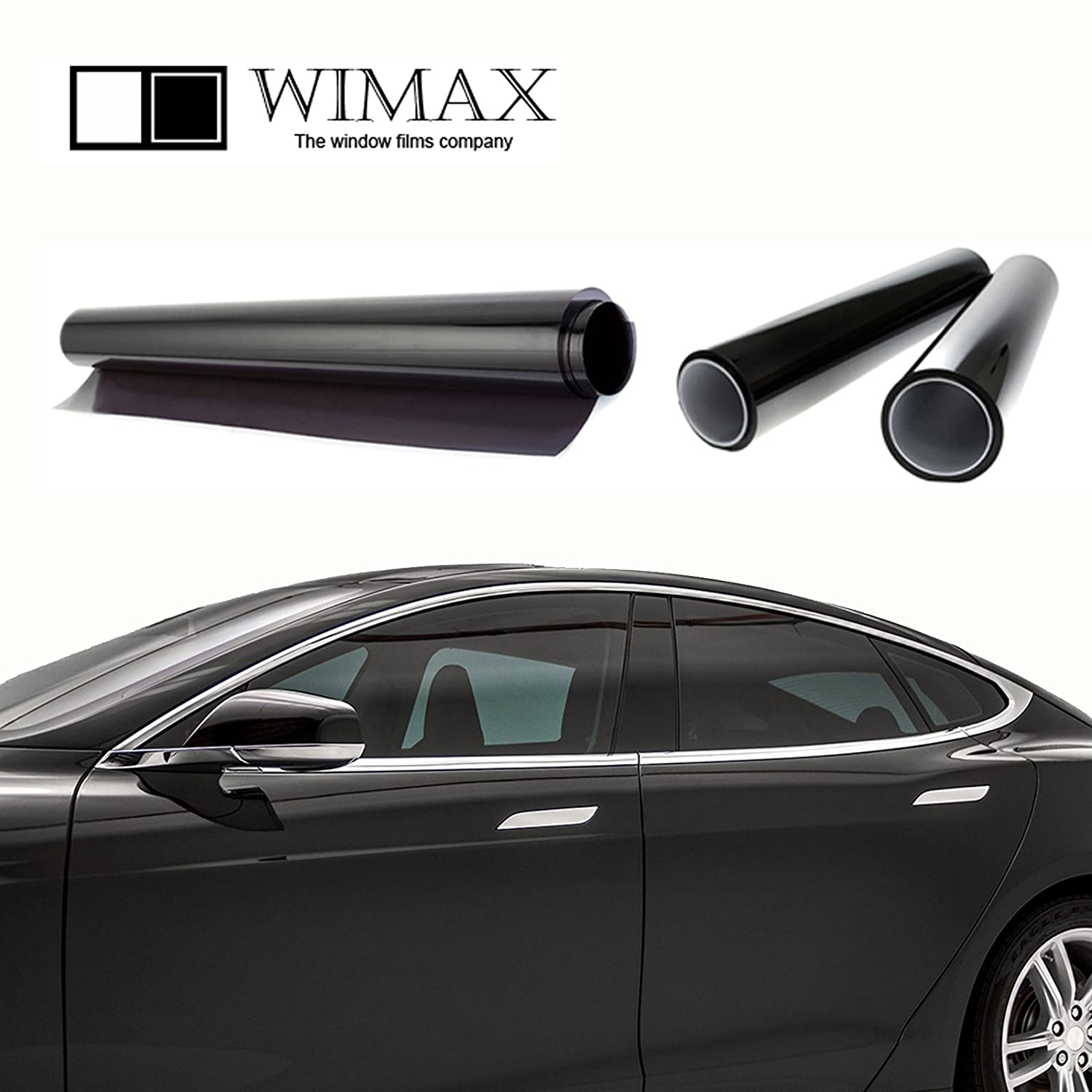 Wimax Limo 3/% VLT 24 In x 5 Ft Feet Uncut Roll Window Tint Film Auto Car Home Office