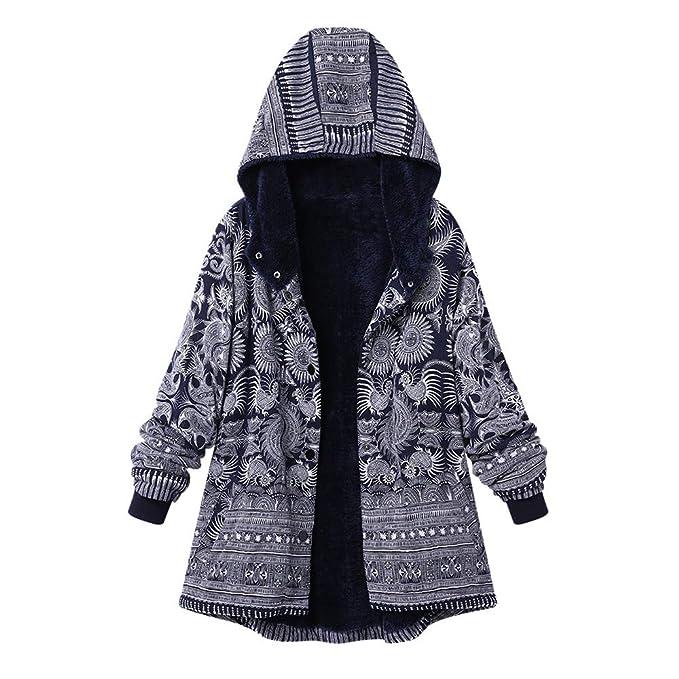 Mujer Invierno Abrigo Casual Sudadera con Capucha Algod/ón Chaqueta Larga Gruesa C/álida Rebajas Talla Grande Capa Jacket Parka Pullover riou