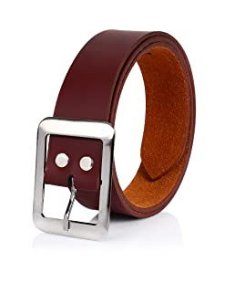 Brussel Men's Faux Leather Belt (Cherry Brown, 40)