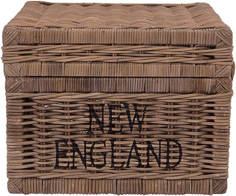 Rattan im Trend New England Cesto in vimini e rattan colore Naturale
