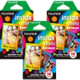Fujifilm Instax Mini Instant Rainbow Film, 10 Sheets, 3 Value Set