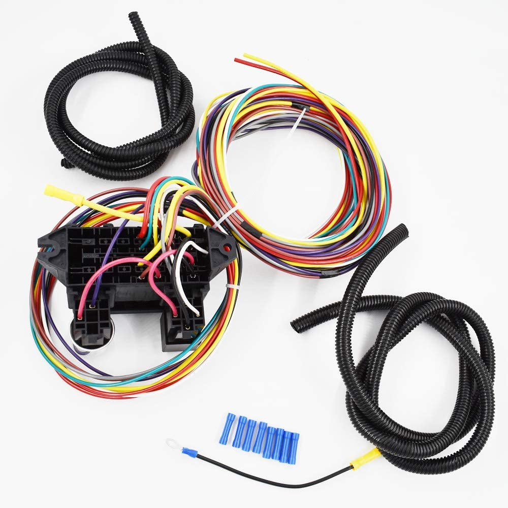 labwork parts New 40 Circuit Universal Wire Harness Muscle CAR HOT Rod  Street Rod Rat Rod