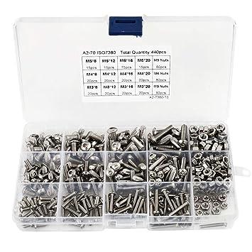 100Stk M3,5 Sechskantmuttern 304 Edelstahl Verschluss DIN934 für Schraubbolzen