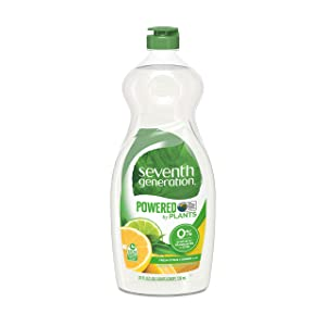 Seventh Generation Dish Liquid Soap, Fresh Citrus & Ginger Scent, 25 oz (Packaging May Vary)