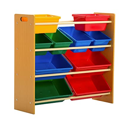 Mecor Kidsu0027 Toy Bin Storage Organizer Box Shelf Drawer, With 12 Extra Large  4
