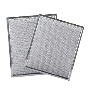 Podoy WB6X486 Microwave Grease Filters Replacement Parts Compatible GE Hotpoint Kenmore - 9'' X 7.75'' Range Oven Hood Aluminum Filter