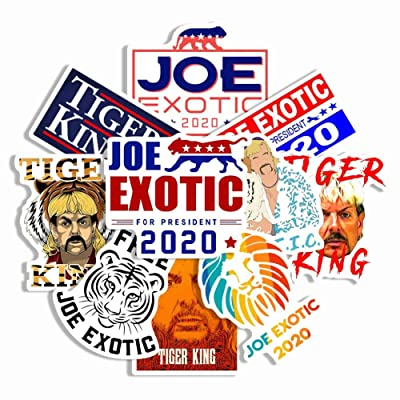 Fuguan Joe Exotic Stickers, 10 Pieces President 2020 Sticker Tiger King Presidential Decals Sticker: Arts, Crafts & Sewing