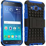 STAPNA Defender Tough Hybrid Armour Shockproof Hard PC+ TPU with Kick Stand Rugged Back Case Cover for Samsung GaLAXY ON7 Pro -(Blue)