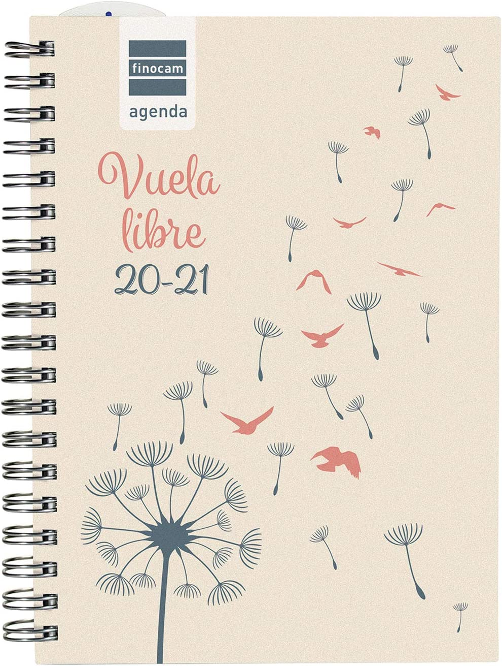 Finocam - Agenda Curso 2020-2021 para Secundaria Octavo, 120 x 169, Semana Vista Apaisada Mini Institut Vuela, Español