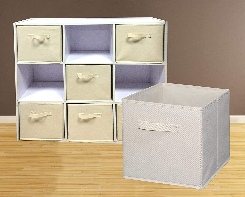 Foldable cloth storage cubes