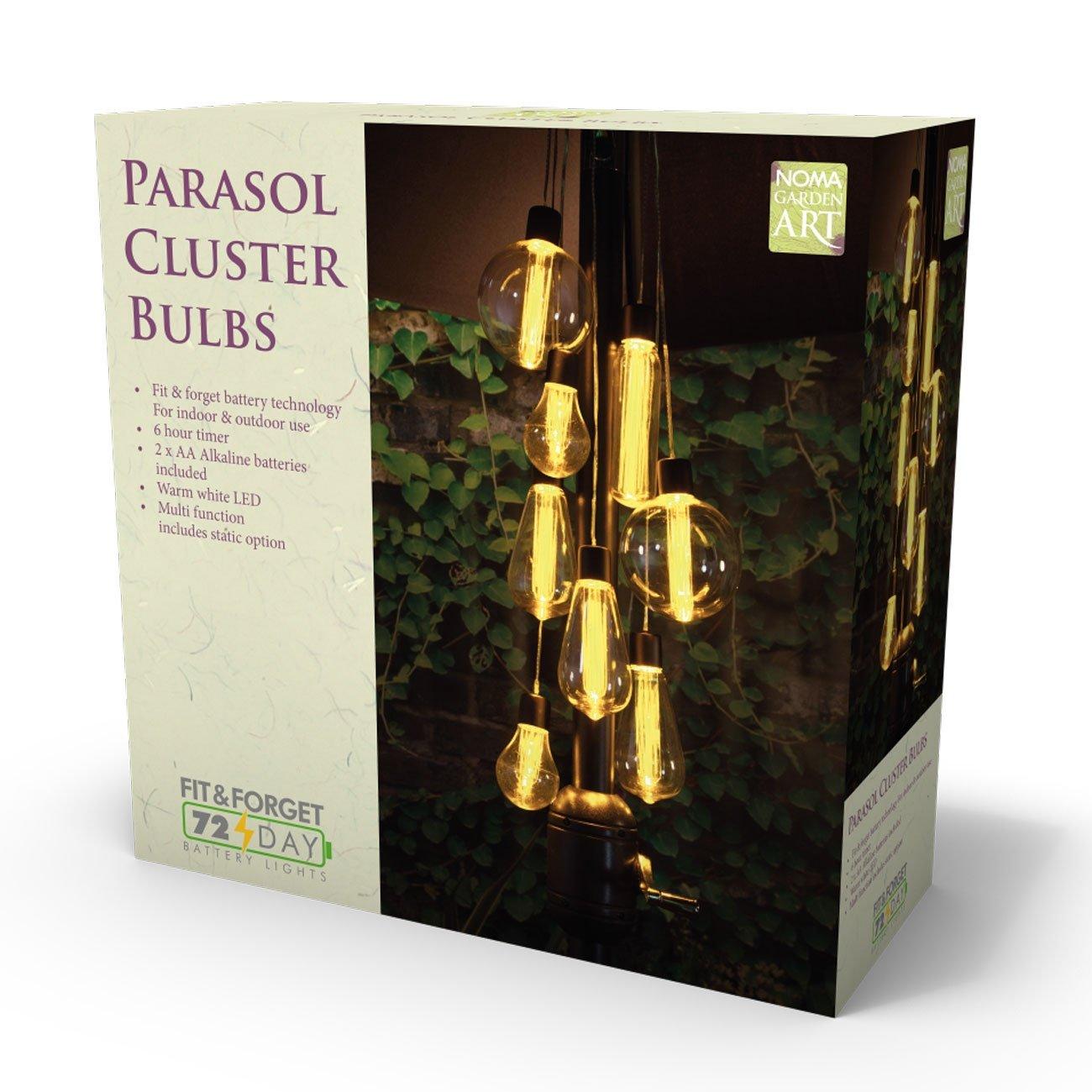 NOMA 7 Bulb Parasol Cluster Lights LED Noma Garden Art