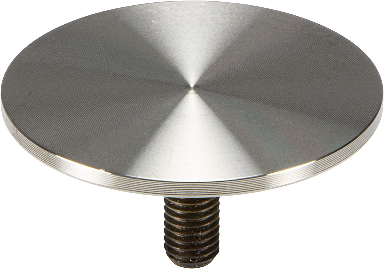 per gambe e piedi del tavolo Adattatore in acciaio INOX con piastra di fissaggio in vetro con filettatura M10 /Ø 60 mm Gedotec H10752 in acciaio INOX spazzolato opaco