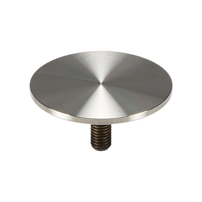gedotec placas de vidrio de adaptador placa de fijación de acero inoxidable con rosca M10 para patas de mesa Ø 60 mm – Modelo H2050, acero inoxidable ...