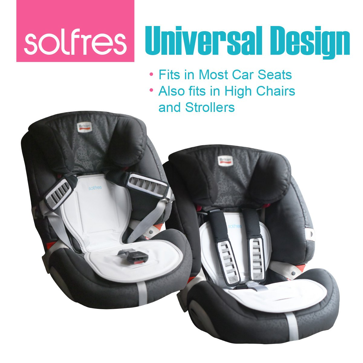 Solfres Hydro Gel Car Seat Cooler Mat For Baby No Refrigeration Needed Carseat And