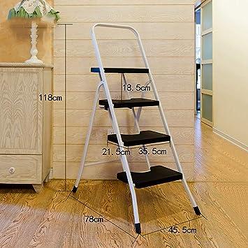 Stepladder Escalera plegable 4 Escalera plegable de acero for servicio pesado, Taburete for escaleras, Escalera de tijera, Escalera telescópica multiusos for la oficina de loft en el hogar, Antidesliz: Amazon.es: Bricolaje y