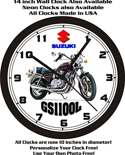 Amazon com: 1980 SUZUKI GS1100L MOTORCYCLE WALL CLOCK-FREE