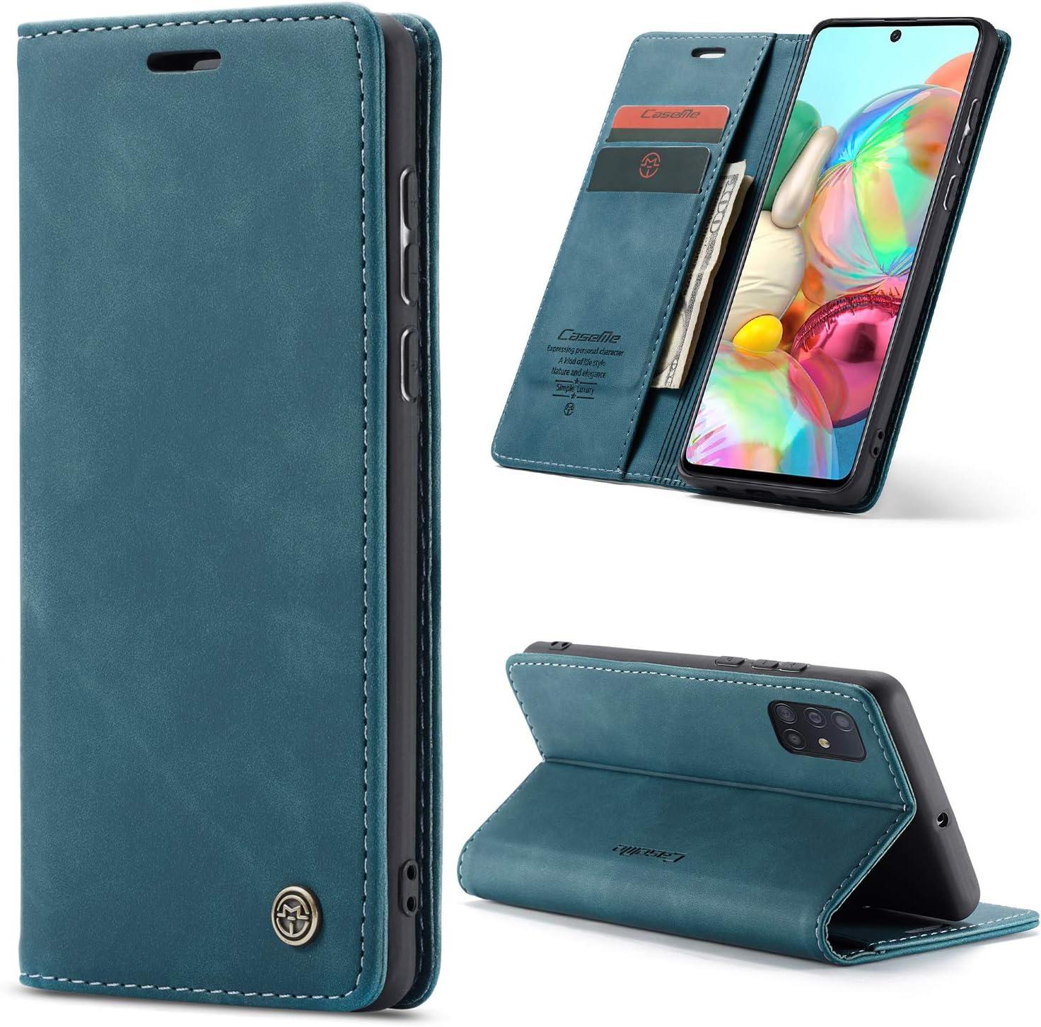 Funda Estilo Billetera Flip Cover azul para Samsung A31