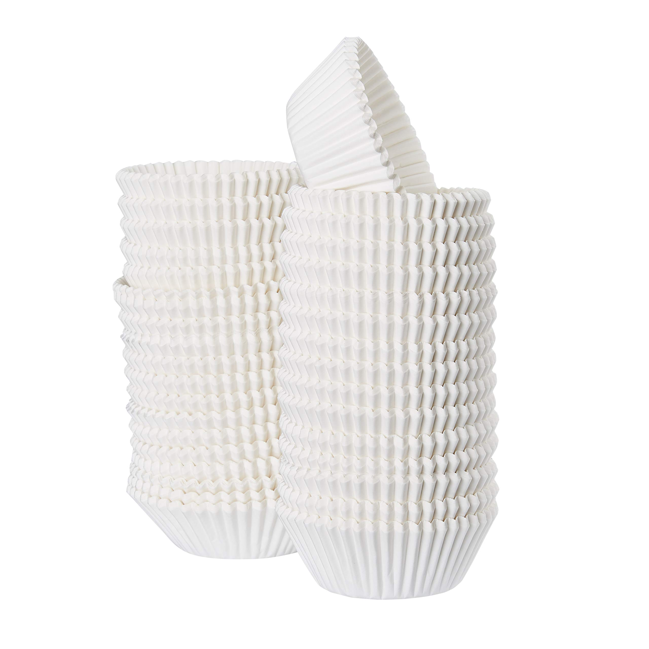 White Cupcake Liners - 1000-Pack Bulk Cupcake and Muffin Paper Baking Cups, Standard Sized Pastry Wrappers, Ideal for Professional Bakery Business Supplies, Birthday Parties, Weddings, 2 x 1 Inches by Juvale