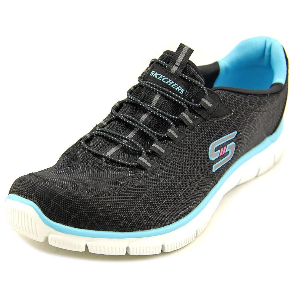 Skechers Sport Women's Empire Rock Around Fashion Sneaker B00VFFWUNE 5 B(M) US Black Fabric/Synthetic