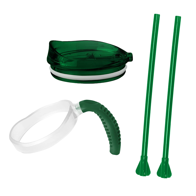 Green 3 Pack Boelter Brands 532687 Tumbler Accessory Set
