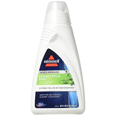 BISSELL EUCALYPTUS MINT DEMINERALIZED STEAM MOP WATER, 32 ounces, 1392, WHITE
