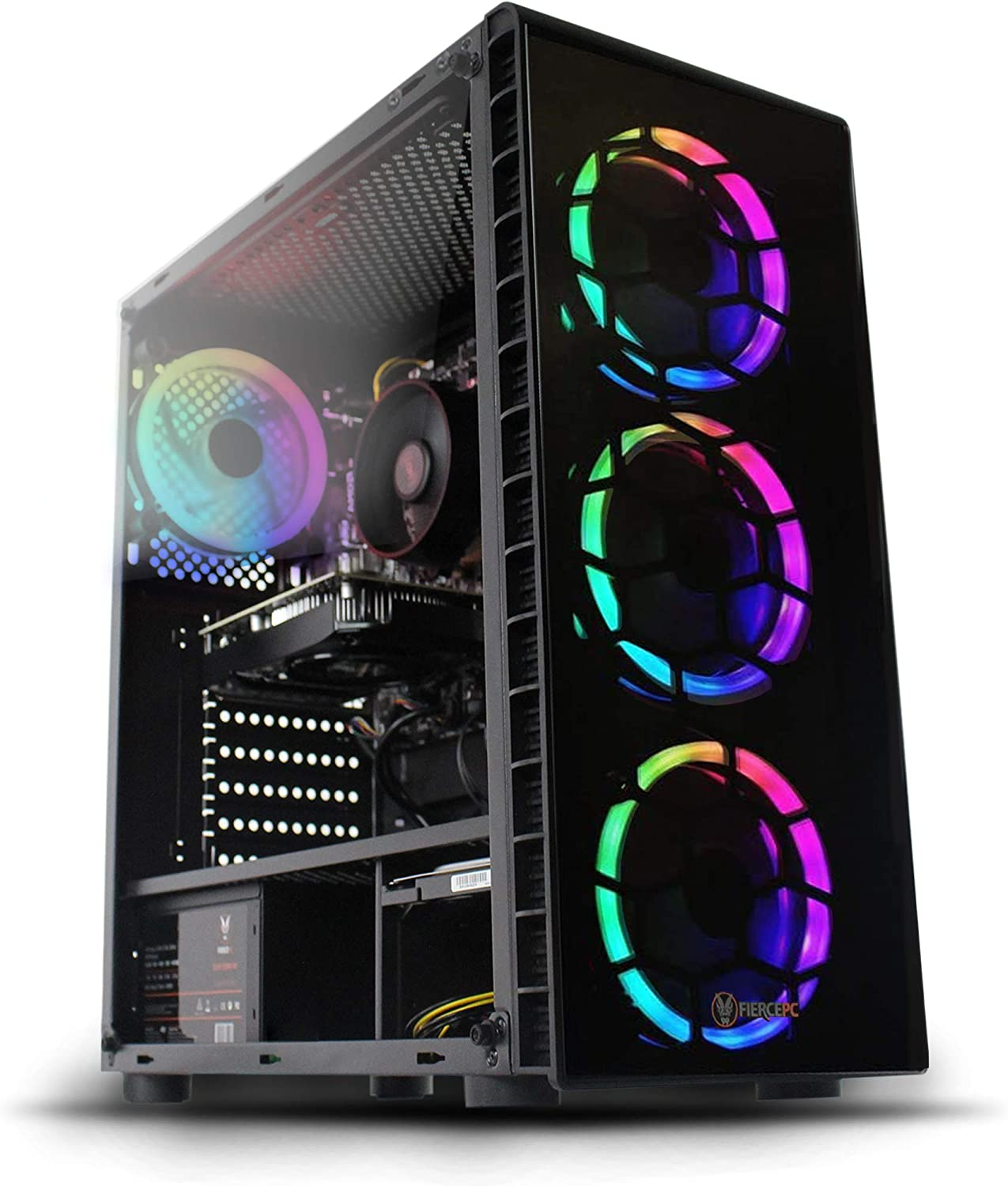 Fierce Crusader RGB PC Gamer - Rápido 4.1GHz Hex-Core Intel Core i5 9400F, 240GB SSD, 1TB Disco Duro, 16GB de 3000MHz, NVIDIA GeForce GTX 1660 Super 6GB, Windows 10 Instalado 1141828: Amazon.es: Informática