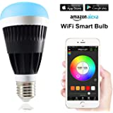 MagicLight Pro WiFi Smart LED Light Bulb - Smartphone Controlled Sunrise Wake Up Lights - Dimmable Multicolored Color Changing Night Light - Works with Alexa & IFTTT - 10 Watts (80Watts Equivalent)