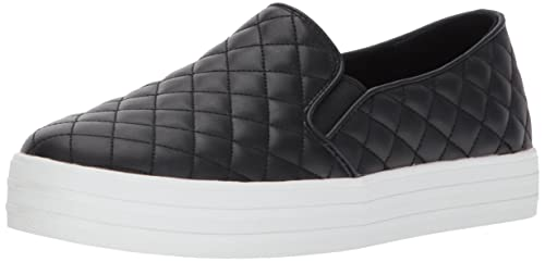Skechers Double Up-Duvet, Zapatillas sin Cordones para Mujer, Negro (Black), 35.5 EU