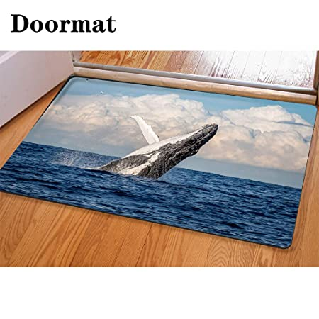 Alfombra de baño con impresión y teñido 3D, tapete para puerta ...