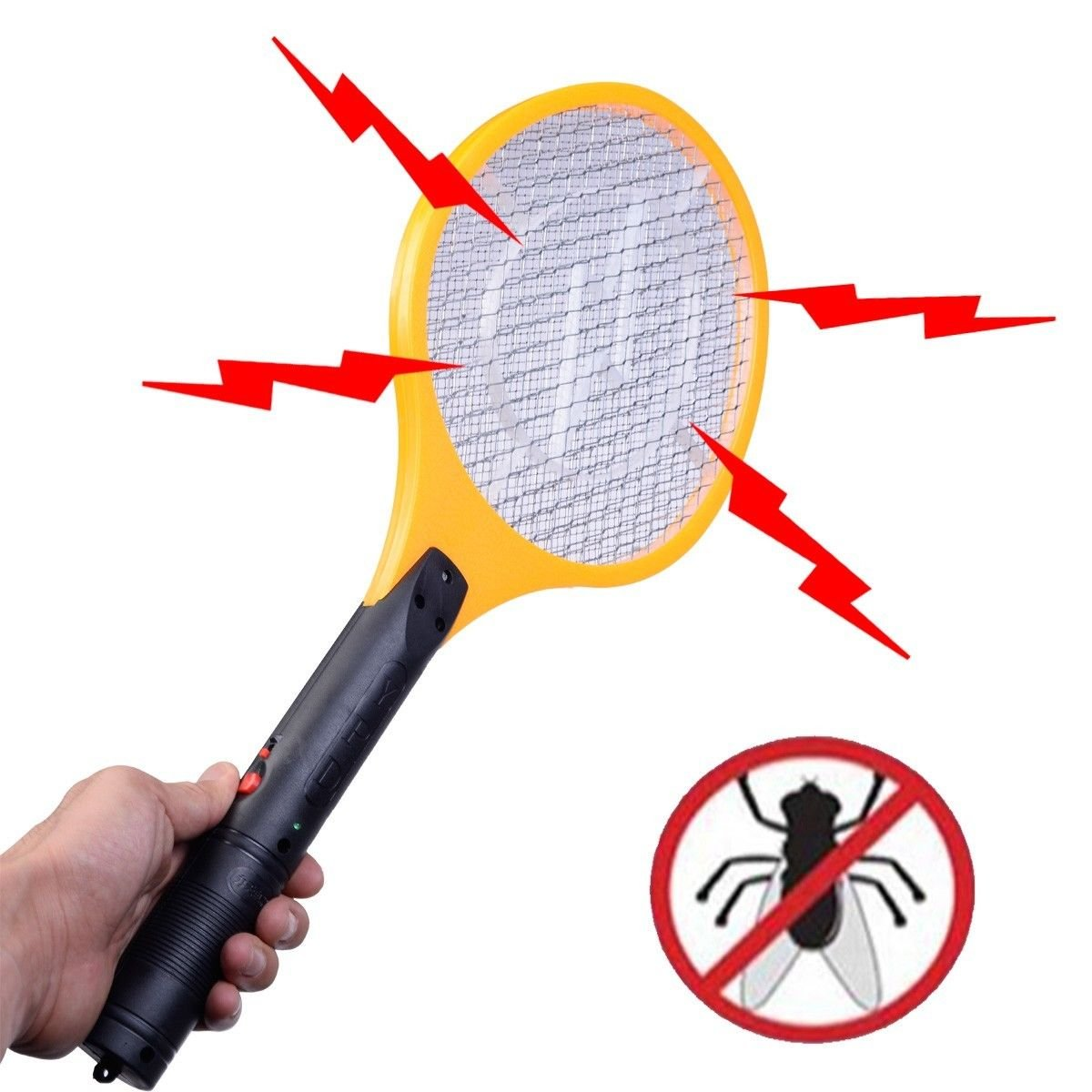Electric Swatter Racket Mosquito Rechargeable Image 2
