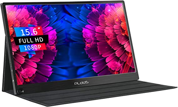 Portable Monitor pldds 15.6 Inch 1920×1080 Full HD Computer Display IPS Screen Gaming Monitor Type-C and Mini HDMI Input for Laptop PC PS4 Xbox MAC Phone PS3 Raspberry Pi