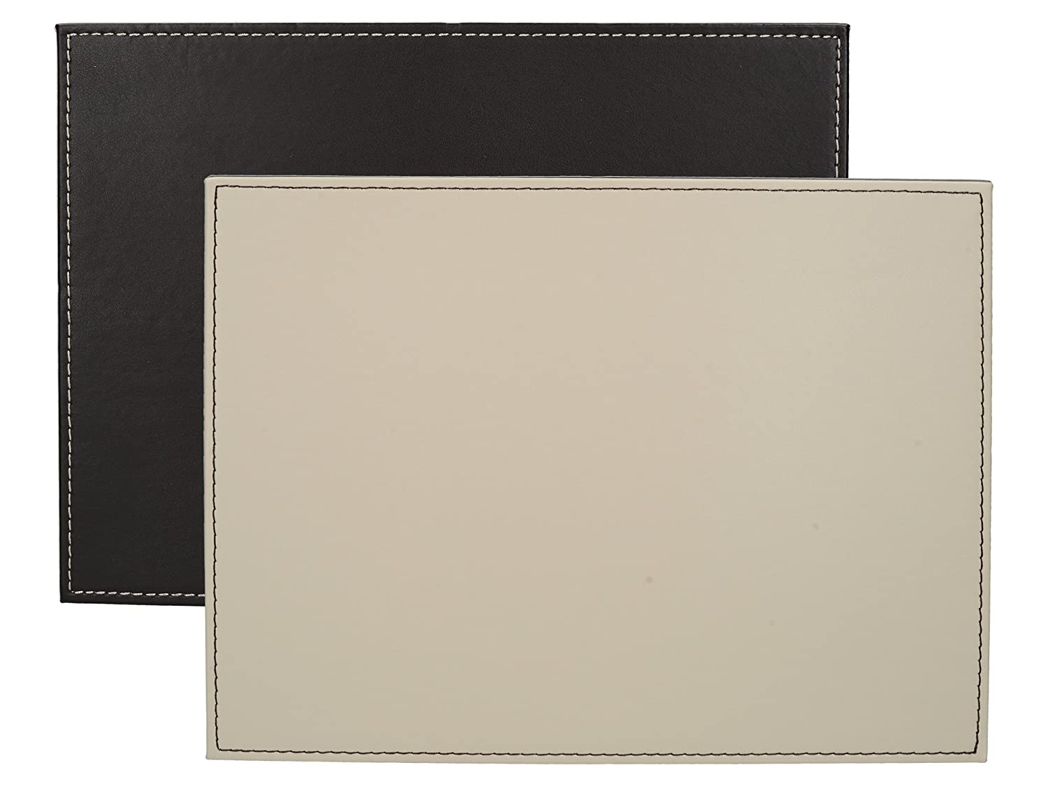 "Set of 4 Faux Leather Placemats by Creative Tops, 29 x 21.5 cm (11½"" x 8½"""
