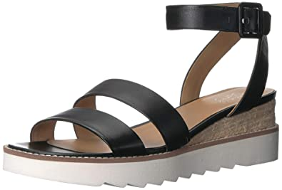 930cdc3bf30 Franco Sarto Women s Connolly Wedge Sandal Black 10 ...
